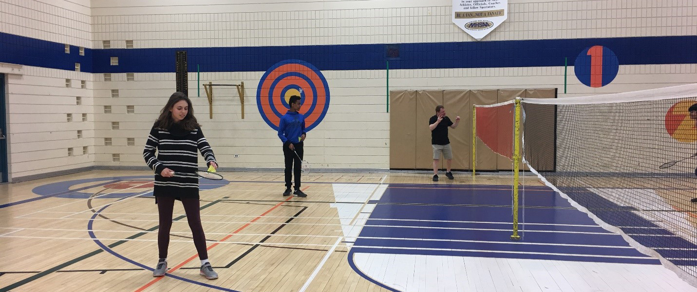 MSD students playing badminton